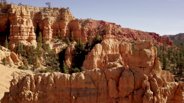 desert sandstone rock formations near bryce canyon national park - rock hoodoo stock videos & royalty-free footage