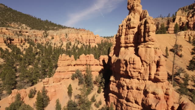 desert sandstone rock formations near bryce canyon national park - national landmark stock videos & royalty-free footage