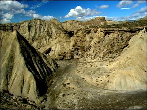 vídeos y material grabado en eventos de stock de desert scenic, tabernas, almeria, andalucia, spain - árido