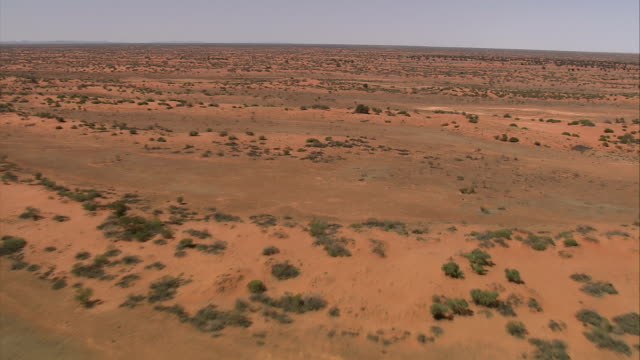 desert shrubs dot the vast outback in northern queensland. available in hd. - outback stock videos & royalty-free footage