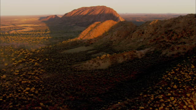 desert shrubs grow in a mountain valley. - australia stock videos & royalty-free footage