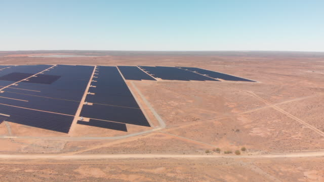 desert solar electricity plant pan - alternative energy stock videos and b-roll footage