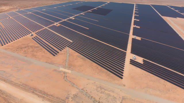 desert solar electricity plant - electrical component stock videos & royalty-free footage