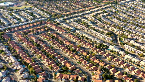 desert southwest real estate from above phoenix area - urban sprawl stock videos & royalty-free footage