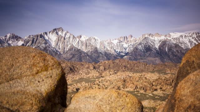 Desert to Mountains Time Lapse View