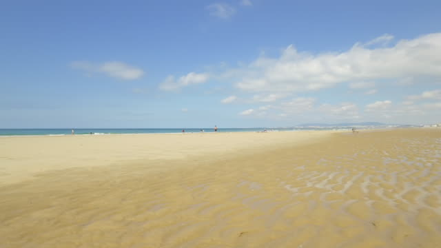 deserted beach in portugal - low tide stock videos & royalty-free footage