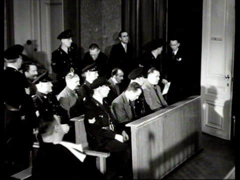 Deserted concentration camp in Amersfoort German camp leaders of Amersfoort being tried at Special Criminal Court death sentence being demanded /...
