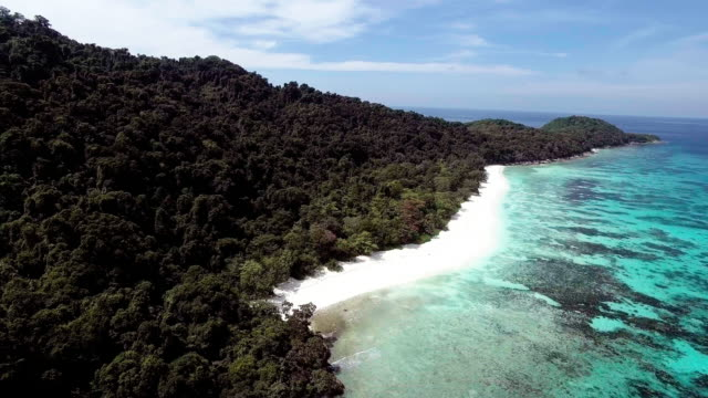 a deserted paradise beach on a remote island, similan islands, thailand - david ewing stock videos & royalty-free footage