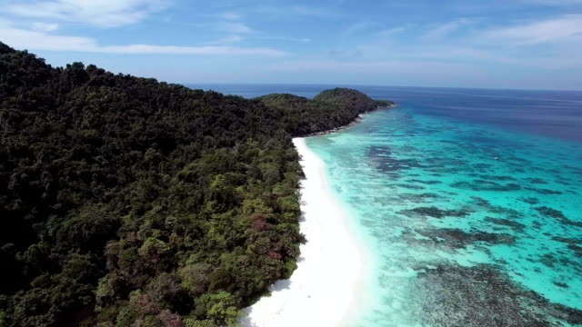 A deserted paradise beach on a remote island, Similan Islands, Thailand