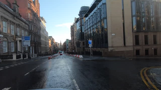 deserted street scenes in glasgow as scotland is placed into a coronavirus lockdown - urban road stock videos & royalty-free footage