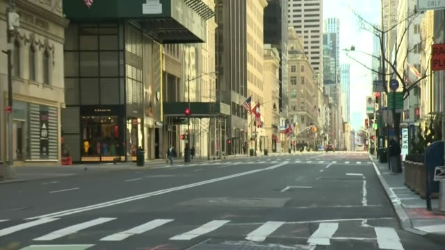 deserted streets scenes around times square in new york city due to coronavirus pandemic - new york city stock videos & royalty-free footage