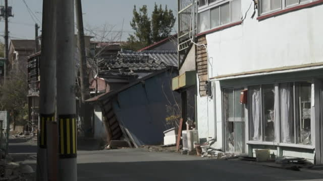 deserted town in miyagi, northern japan, stuck in time after the fukushima nuclear power station disaster in 2011 - absence stock videos & royalty-free footage