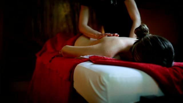 deserved relaxation in spa center - massage oil videos stock videos and b-roll footage