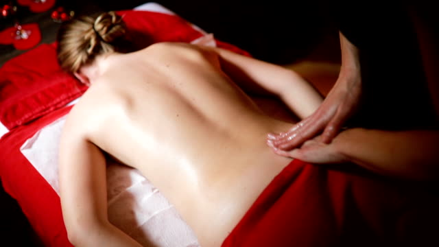 deserved relaxation in spa center - massage stock videos & royalty-free footage