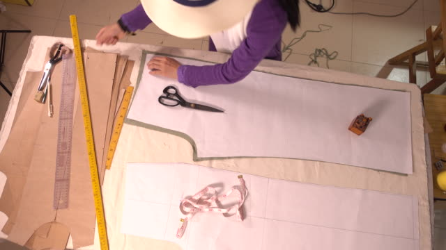design clothes - パタンナー点の映像素材/bロール