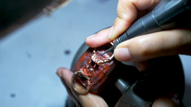 design jewelry in workshop - grinder industrial equipment stock videos & royalty-free footage