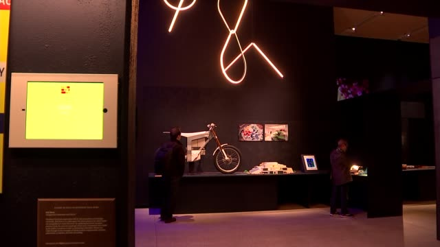 design museum's annual awards: nominees; england: london: design museum: int various shots of exhibits on display in 'beazley designs of the year... - 年次イベント点の映像素材/bロール