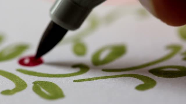 - design - kalligraphieren stock-videos und b-roll-filmmaterial