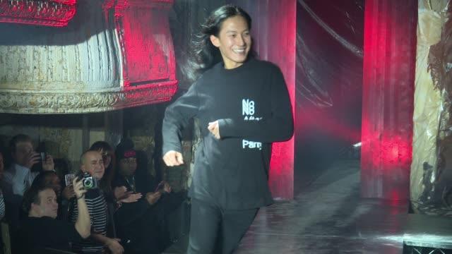 Designer Alexander Wang walks the runway at Alexander Wang February 2017 New York Fashion Week at TBD on February 11 2017 in New York City