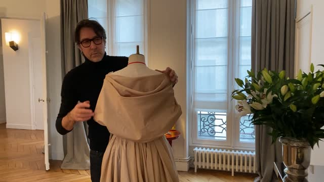 designer christophe josse poses during the christophe josse spring/summer 2021 presentation as part of paris fashion week on january 28, 2021 in... - design professional stock videos & royalty-free footage
