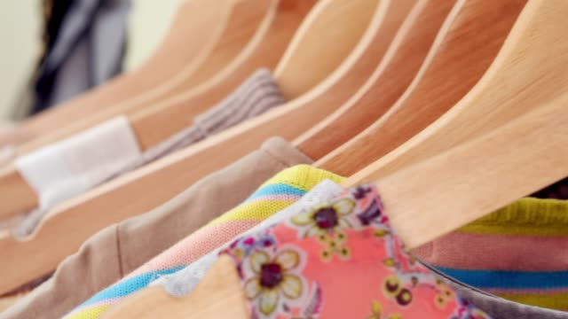vídeos de stock e filmes b-roll de designer clothing collection. designer with a ready collection. - camisas