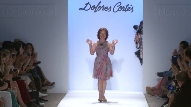 designer dolores cortes at dolores cortes mercedesbenz fashion week swim 2014 at cabana grande at the raleigh hotel on july 19 2013 in miami florida... - grande stock videos and b-roll footage