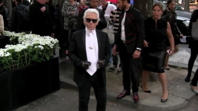 Designer Karl Lagerfeld attends the Fendi Opening Party for the new Store on Avenue Montaigne in Paris Paris France on Wednesday July 3 2013