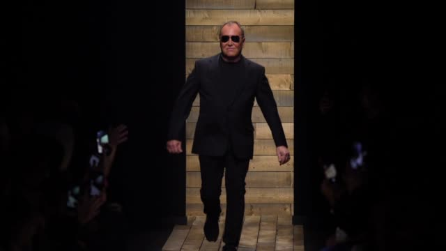 designer, michael kors walks the runway at the michael kors fashion show at new york stock exchange on february 12, 2020 in new york city. - fashion show stock videos & royalty-free footage