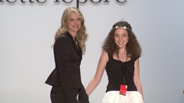 Designer Nanette Lepore and her daughter Violet walk the runway wearing Nanette Lepore Fall 2011 collection during MercedesBenz Fashion Week Fall...