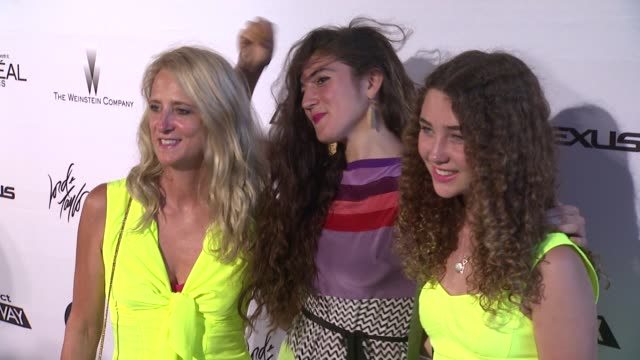 designer nanette lepore natalia hagan and lepore's daughter violet lepore at project runway 10th anniversary party at highline on july 17 2012 in new... - project runway stock videos and b-roll footage