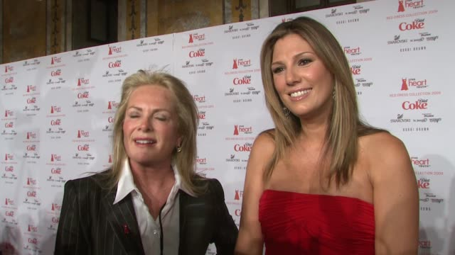 designer pamela dennis and daisy fuentes talk about why this event is so important they talk about collaborating to design the perfect dress they say... - daisy fuentes stock videos and b-roll footage