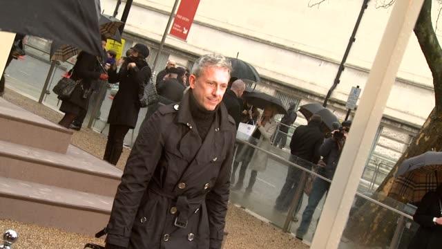 vidéos et rushes de designer patrick cox at the burberry prorsum london fashion week a/w 2010 red carper arrivals at london england - burberry prorsum