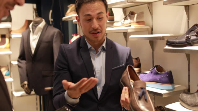 designer shoes shopping - menswear stock videos & royalty-free footage