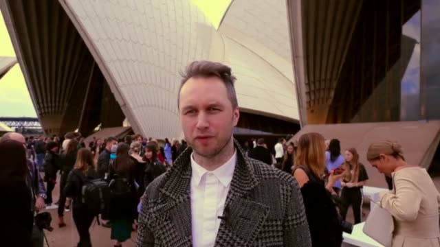 designer, toni maticevski discusses dion lee's collection at the dion lee at mercedes-benz fashion week resort 18 collections at carriageworks on 14... - andrew mathers video stock e b–roll