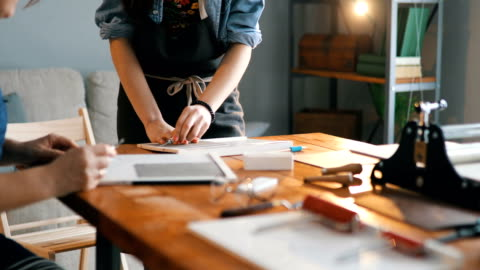 designers in printmaking workshop - art and craft stock videos & royalty-free footage