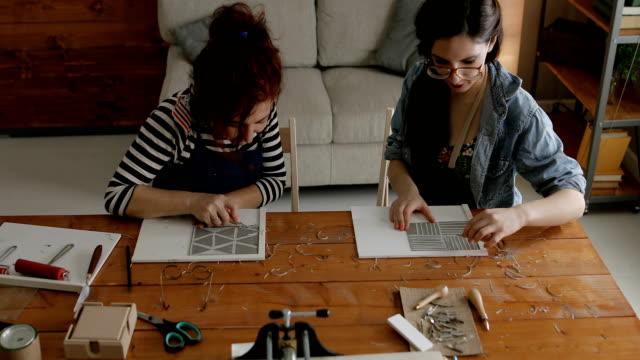 Designers in printmaking workshop