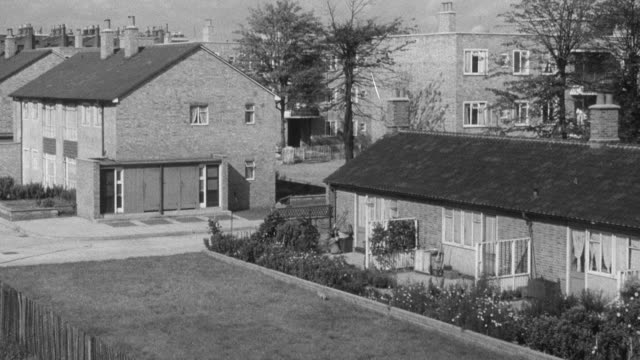 1951 montage designing towns with interest and variety / united kingdom - 1951 stock videos & royalty-free footage