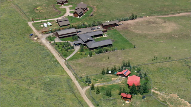 Desirable Houses South Of Jackson  - Aerial View - Wyoming,  Teton County,  helicopter filming,  aerial video,  cineflex,  establishing shot,  United States