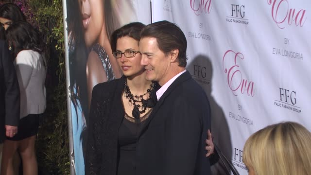 Desiree Gruber Kyle MacLachlan at the Eva Longoria Parker Fragrance Launch Party For 'Eva' at Hollywood CA
