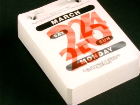 t/l desk calendar - 1st january to 31st december 2001 - time stock videos & royalty-free footage