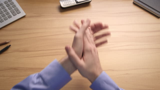 desk gestures compilation - clapping hands stock videos & royalty-free footage