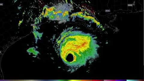 desktop computer weather radar app shows the hurricane laura invading america on the august 26, 2020, and caused tornado warnings in louisiana - climate stock videos & royalty-free footage