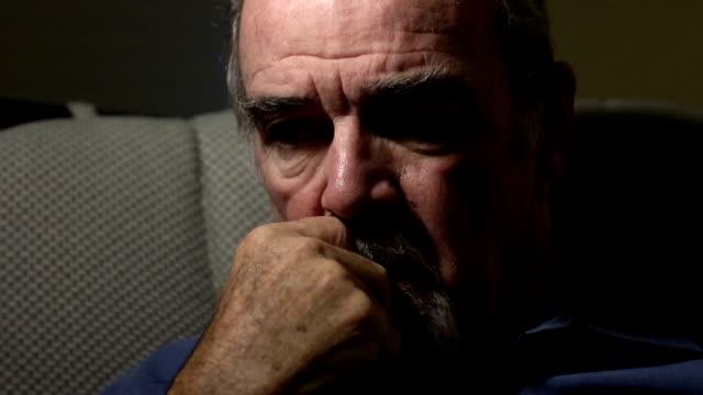 despairing senior man - senior men stock videos & royalty-free footage