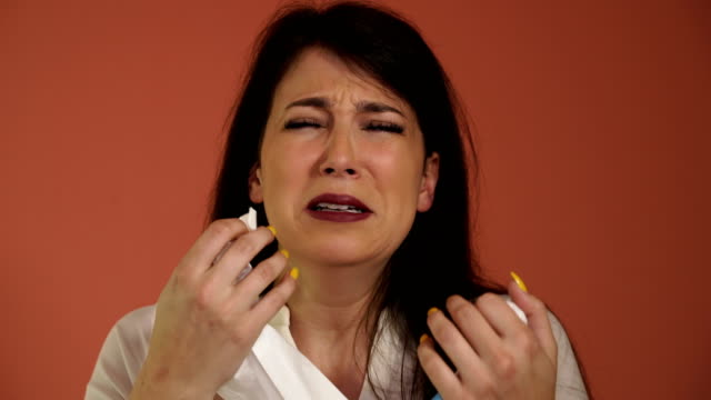 desperate woman crying - facial expression stock videos & royalty-free footage