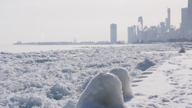 despite another inch of snow on the ground chicagoans say they're starting to enjoy the beautiful views of the city's skyline and their winter... - inch stock videos & royalty-free footage