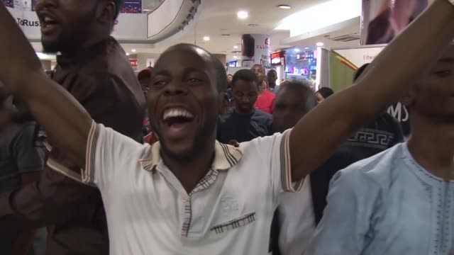 Despite their team's loss to Croatia in their first 2018 World Cup match over a hundred Nigeria fans troop out to watch and support their team the...