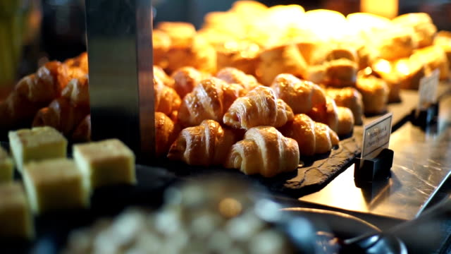dessert buffet with delicious sweet bakery. - buffet stock videos & royalty-free footage