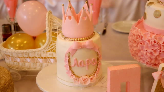 dessert table at party - baby shower video stock e b–roll