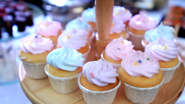 desserts- stock video - cupcake stock videos and b-roll footage