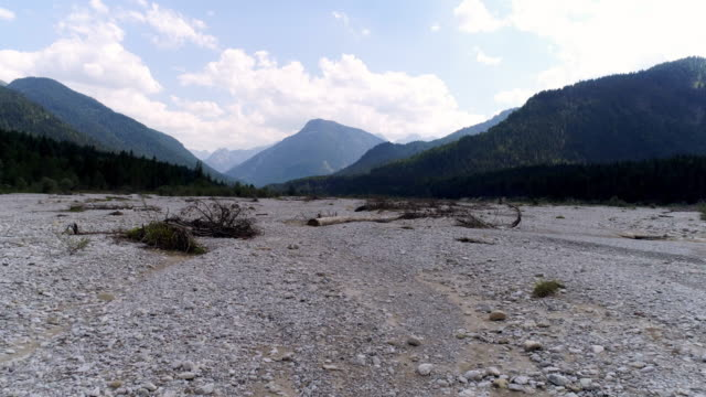 dessicated riverbed in summer - dry video stock e b–roll